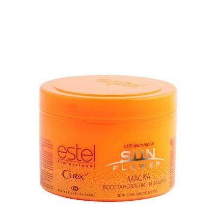 Estel. Маска CUREX SUN FLOWER для волос - восстановление и защита с UV-фильтром, 500 мл.