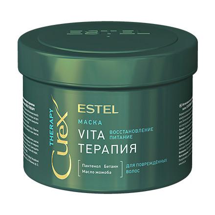 """Estel. Маска """"Vita-терапия"""" для повреждённых волос CUREX THERAPY, 500 мл."""