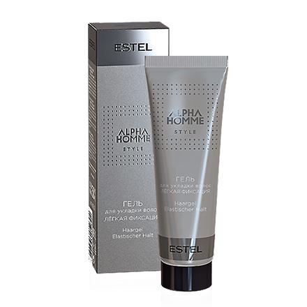 Estel. Гель для укладки волос легкая фиксация ESTEL ALPHA HOMME, 50 мл.