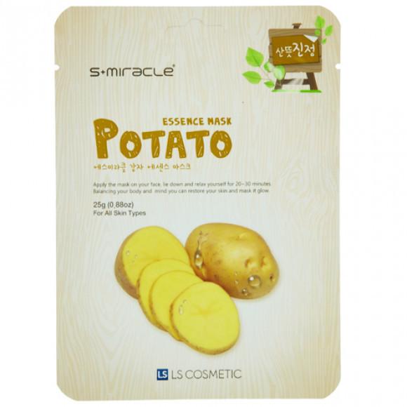 """Маска для лица """"S+MIRACLE"""" с экстрактом картофеля, 25 гр."""