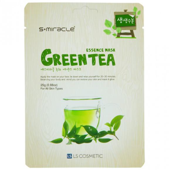 """Маска для лица """"S+MIRACLE"""" с экстрактом зеленого чая, 25 гр."""