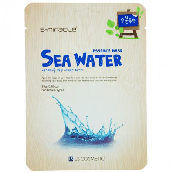 """Маска для лица """"S+MIRACLE"""" с морской водой, 25 гр."""