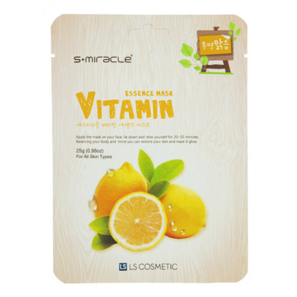 "Маска для лица ""S+MIRACLE"" с витаминами, 25 гр."