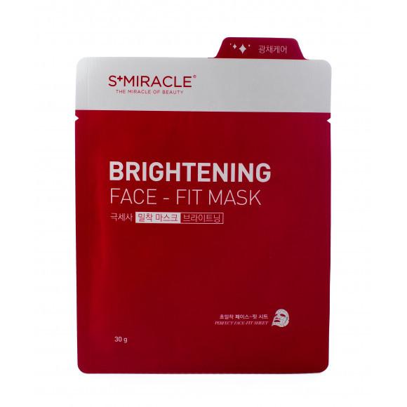 "Маска для лица придающая сияние ""S+MIRACLE"" Brightening Face Fit Mask, 30 гр."