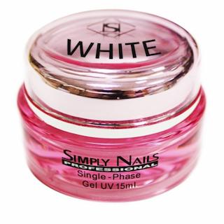 Гель для ногтей Simply Nails белый 15 мл.