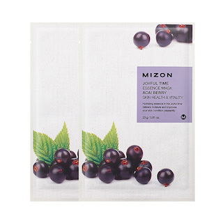 MIZON Тканевая маска для лица с экстрактом ягод асаи Joyful Time Essence Mask Acai Berry, 23 мл.