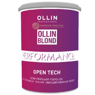 OLLIN BLOND PERFORMANCE Open Tech Осветляющий порошок для открытых техник обесцвечивания волос, 500 гр.