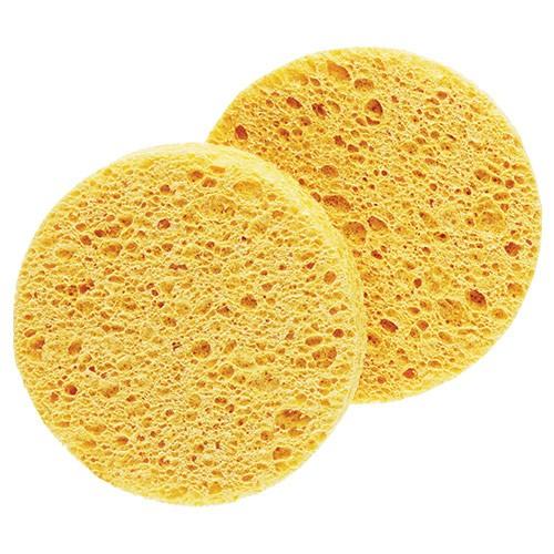 Губки желтые круглые из целлюлозы-средние 2 шт.
