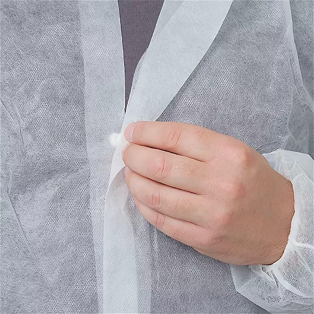 Халат на кнопках, цвет: белый (1шт)