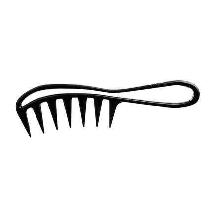 OLLIN Prof Расческа пластик гребень с крупными зубцами и ручкой, изогнутая
