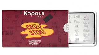 "Word 1, пластина для стемпинга ""Crazy story"", арт. 2387"