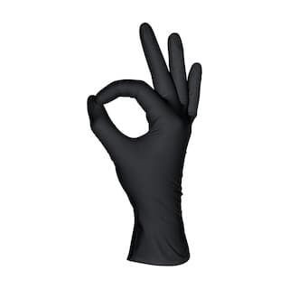 Перчатки нитриловые черные 50 пар ( 100 шт), размер S