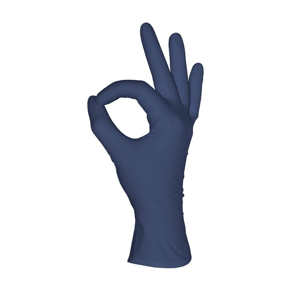 Перчатки нитриловые черничные 50 пар ( 100 шт), размер S