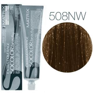 Matrix Socolor Beauty 508NW (Светлый блондин теплый натуральный) - Крем-краска для седых волос