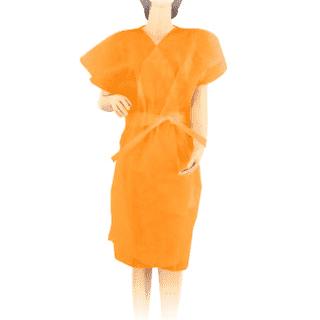Халат-кимоно без рукавов, цвет: оранжевый