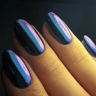 Зеркальный блеск-втирка 2 г +2 спонжа №6 сине-фиолетовый