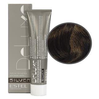 Estel. 5/0 Крем-краска De Luxe Silver, светлый шатен