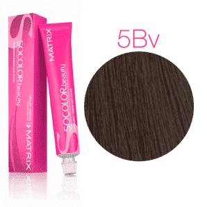 Matrix Socolor Beauty 5BV светлый шатен коричнево-перламутровый, стойкая крем-краска для волос