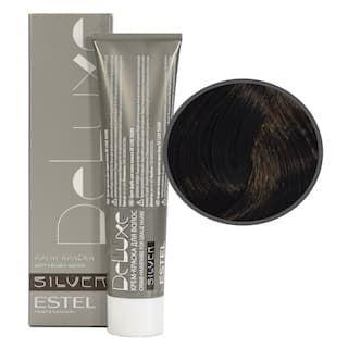 Estel. 4/0 Крем-краска De Luxe Silver, шатен