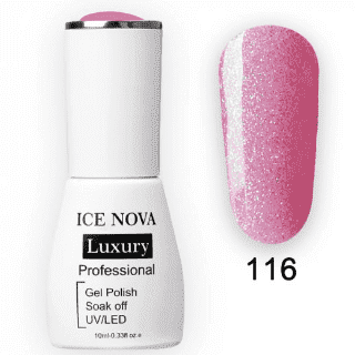 Гель-Лак ICE NOVA Luxury 116 Glitter Lavender