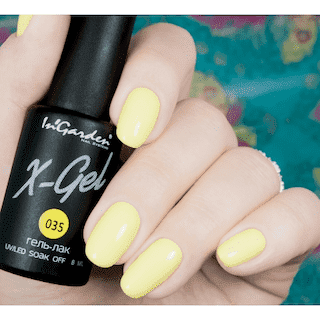 """Гель-лак X-Gel №35 """"Банановый желтый цвет"""""""