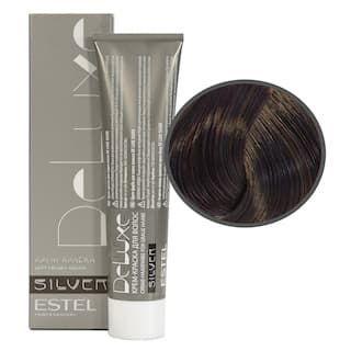 Estel. 4/75 Крем-краска De Luxe Silver, шатен коричнево-красный