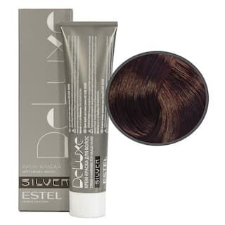 Estel. 5/56 Крем-краска De Luxe Silver, светлый шатен красно-фиолетовый