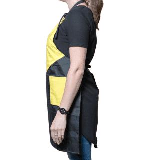 """Фартук """"TNL"""" - желтый с карманом"""