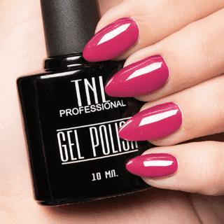 """Цветной гель-лак """"TNL"""" №004 - темно - розовый (10 мл.)"""