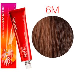 Matrix Color Sync 6M темный блондин мокка, тонирующая краска для волос без аммиака