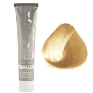 Estel. 10/36 Крем-краска De Luxe Silver, светлый блондин золотисто-фиолетовый для 100% седины