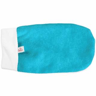 Махровые варежки для парафинотерапии, цвет: голубой