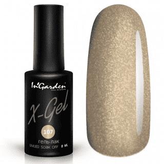 Гель-лак X-Gel №107 Золотой голографический цвет