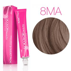 Matrix SoColor Beauty 8MА (Светлый блондин мокка пепельный) - Крем-краска для волос