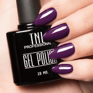 """Цветной гель-лак """"TNL"""" №164 - темно-лиловый (10 мл.)"""