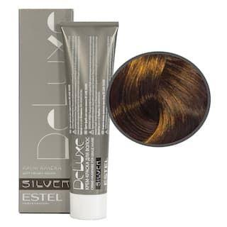 Estel. 7/47 Крем-краска De Luxe Silver, русый медно-коричневый