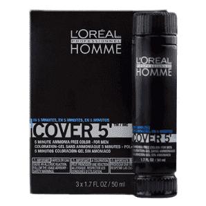 L'Oreal Professionnel Homme Cover 5 №5 - Тонирующий гель (светлый шатен)