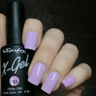 """Гель-лак X-Gel №15 """"Лавандово-розовый плотный цвет"""""""