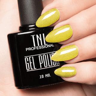 """Цветной гель-лак """"TNL"""" №062 - мерцающий желтый (10 мл.)"""