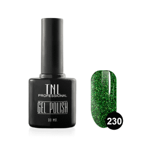 """Цветной гель-лак """"TNL"""" №230 - изумруд с блестками (10 мл.)"""
